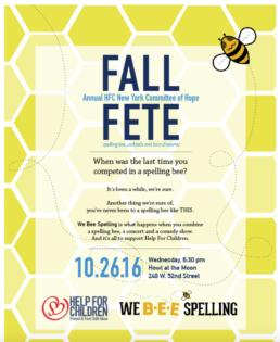 HFC FALL FETE Spelling Bee